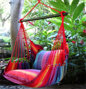Lazy Rezt XL hanging chair Rainbow